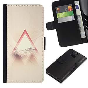 iBinBang / Flip Funda de Cuero Case Cover - Santo Dios cristiano Awe Inspiring Nube Ray - HTC One M8