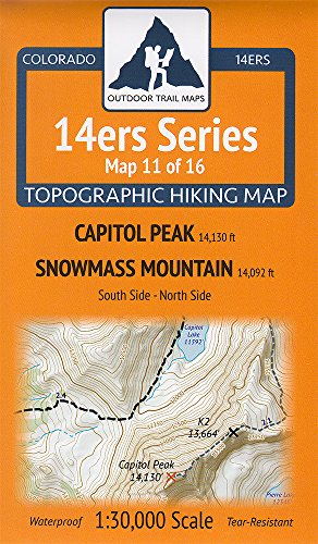 Colorado 14Ers Maps Series 11 Of 16   Capitol   Snowmass