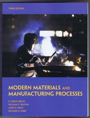 MODERN MATERIALS and MANUFACTURING PROCESSES Third Edition