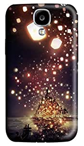 Brian114 Samsung Galaxy S4 Case, S4 Case - 3D Print Pattern Hard Cover for Samsung Galaxy S4 I9500 Lanterns Flying Extremely Protective Case for Samsung Galaxy S4 I9500