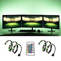 TV Backlight, FeewerBias Lighting USB LED Light for HDTV, Waterproof LED TV Light with Wireless Remote Controller RGB LED Strip