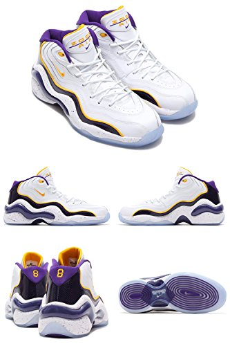 Air Flight Kobe US M D Men's White 10 Bryant NIKE Gold Purple Sneakers 5 '96 Zoom Rw5PX