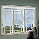 DEZ Furnishing QJWT204720 2 in. Cordless Faux Wood Blind, White - 20.5 W x 72 L in.