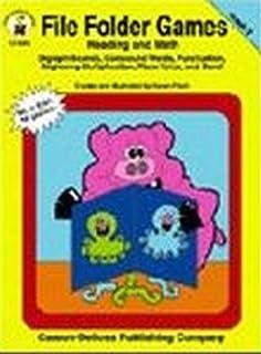 math worksheet : file folder games reading and math kindergarten book 2 karen  : Kindergarten Math File Folder Games