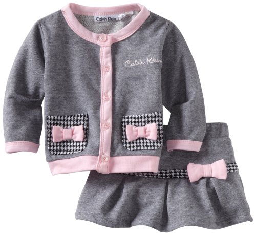 Calvin Klein Baby-Girls Newborn Cardigan and Scooter Set