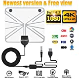 TV ANTENNA,Updated 2018 Newest Version 60-80 Miles Long Range Support Indoor 1080P/4K Digital TV Hd Antenna,Detachable Amplifier Signal Booster, ANCROWN 16.5 FT Coaxial Cable,Watch video for free.