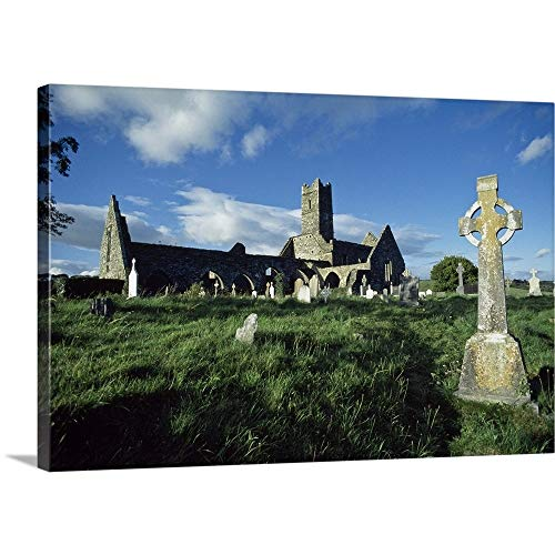 GREATBIGCANVAS Gallery-Wrapped Canvas Entitled Timoleague Abbey, Co Cork, Ireland; 13Th Century Franciscan Abbey by The Irish Image Collection 18
