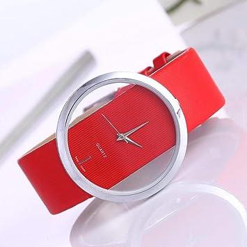 FVNRDS Relojes de Mujer Reloj de Cuero Señora Relojes Mujer ...