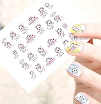 STICKERS DISNEY MARIE BIJOUX ONGLES WATER DECAL NAIL ART MANUCURE ... df4d50706b4b