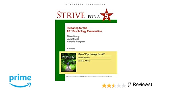 Amazon.com: Strive for 5: Preparing for the AP Psychology ...