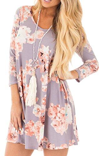 Lavender Floral Dress - 4