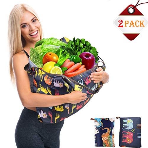 - Reusable Grocery Bags Bulk Large Reusable Shopping Bags Foldable Washable For Women - Fashion cute Reusable Gift Bag Girls Waterproof Eco Tote Bags Cheap Set Folding Carry Heavy Duty Grocery Nylon Bag