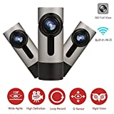 armorall dash - Car Dash Cam 360 Degree Panoramic Wireless Built-in Wifi FHD 1080P Car Vehicle Board Camera Recorder with Super Night Vision, G-Sensor, WDR, Loop Recording Driver, 270°Rotate Angle