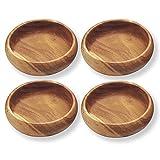 Pacific Merchants Acaciaware Round Calabash Bowls, 6