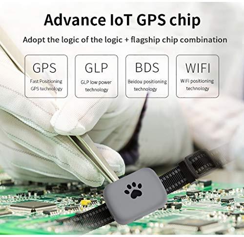 Pet GPS Locator Smart Search Pet Light Pet Tracker Tracker Multifunction Upgrade, Black by PYXZQW Pet tracker (Image #2)