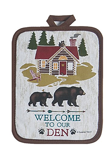 4 Piece Welcome to Our Den Kitchen Linen Set - 2 Terry Towels, Oven Mitt, Potholder by Kay Dee (Image #2)