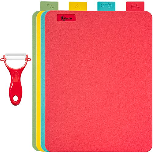 Kitchen Cutting Board Set of 4 Reversible 15
