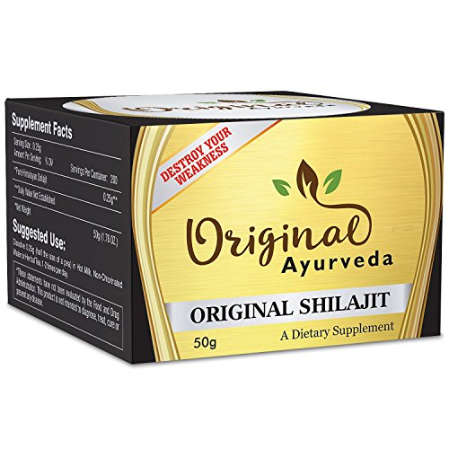 ORIGINAL SHILAJIT | 3 Months Supply | 50g, Pure, Organic and Most Potent Herbal Supplement to Detoxify Body, Boost Immunity, Increase Libido, Destroy Weakness and Improve Healthy (Canada 200 Capsules)
