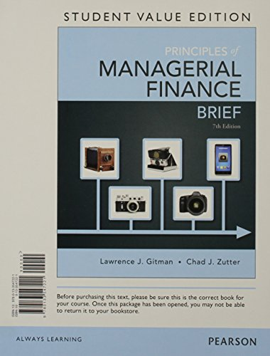 Prin.Of Managerial Finance,Brief (Ll)