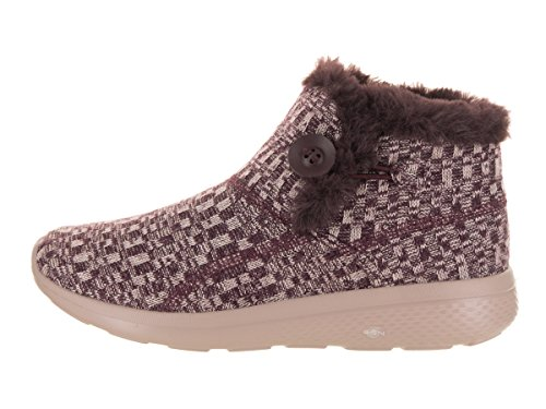 Ankle Go Boots Skechers City Chukka Slip The Cardie 2 Burgundy On Womens OFqn16ZzF