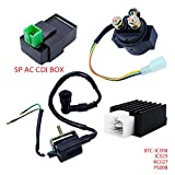 FLYPIG Ignition Coil CDI Regulator Rectifier Relay Set Kit for Chinese ATV Quad Scooter (For 50cc 70 90cc 110cc)