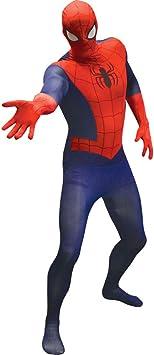 Disfraz segunda piel Spiderman adulto: Amazon.es: Juguetes y ...