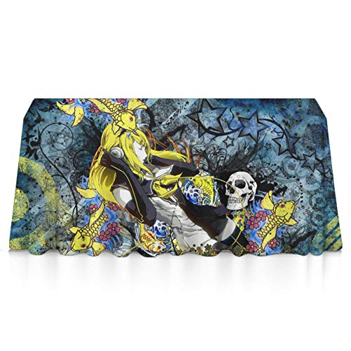 GLORY ART Halloween Scary Horror Skull Premium Tablecloths Home Decor Extra Large Rectangle Tablecloth Tapestry 60x84 inch, Perfect for Buffet Table, Parties, Patio, Holiday Dinner, Wedding,Picnic]()