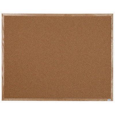 Wall Mounted Bulletin Board Size: 4' H x 5' L by Aarco