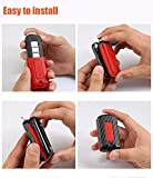 ontto Car Key Cover Case Carbon Fiber Texture Key