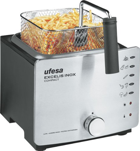 Ufesa FR1250, Acero inoxidable, 210 x 400 x 270 mm, 2250 g, 220-240 V, 50/60 Hz - Freidora: Amazon.es