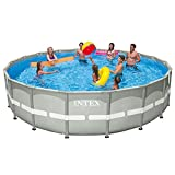 Intex 18ft X 48in Ultra Frame Pool Set with Cartridge Filter Pump For Sale