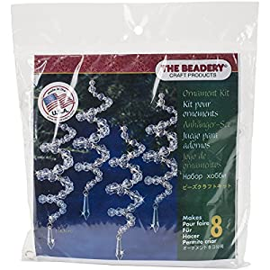 "Beadery Holiday Beaded Ornament Kit, Crystal Spirals, 6.5"" Makes 8 53"