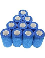 nilo Haftbandagen - 12 Rollen 10cm x 4,5m selbsthaftende elastische atmungsaktive Bandage, Hufverband, Anguss-Verband, Erste Hilfe, Stützverband