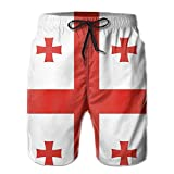 National Flag Of Georgia Summer Quick-drying Board Short Beach Pants For Men Large