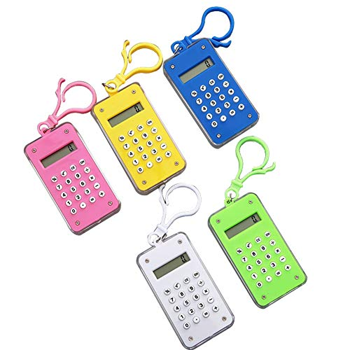 Mini Portable Calculator with Ball Maze, for School Students and Office Employers Creative Stationery Pocket Size Lightweight Math Education Shopping Home 5 Colors