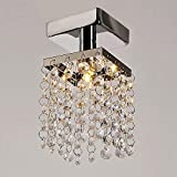 Kindsells Modern Home Living Room Lamp Stainless Steel Pendant Chandelier Ceiling Light Flush Mount (Grey)