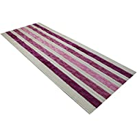 Custom Size Chain Hallway Runner Rug Non-Slip (Slip Resistant) Rubber Back, Anti-Bacterial, 26 Inch Wide x Your Choice of Length Size 6 Color Options, Gold Collection, Pink, 26 Inch X 5 feet