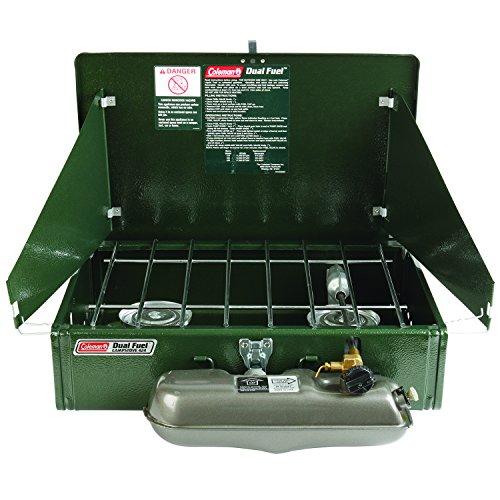 - Coleman 2 Burner Dual Fuel Compact Liquid Fuel Stove
