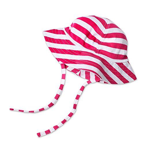 Zutano Baby & Toddler UPF 30+ Sun Protection Hat, 3T, Fuchsia/White Bold Stripe (Zutano Bold Stripe)