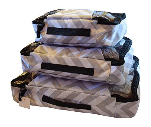 3 Piece Set of Suitcase Packing Cube Organizers - Small, Medium and...