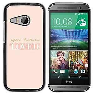 Be Good Phone Accessory // Dura Cáscara cubierta Protectora Caso Carcasa Funda de Protección para HTC ONE MINI 2 / M8 MINI // loved you are self help peach motivation