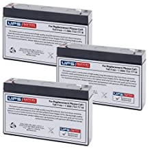 Power Patrol SLA0925 6V 7Ah Replacement Battery Set with F1 Terminals (Set of 3)