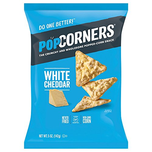 White Chip (POPCORNERS White Cheddar, Popped Corn Chips, Gluten Free, Non-GMO (5oz/12 Pack) - Packaging May Vary)
