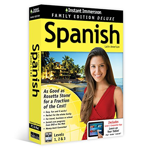 Learn Spanish  Instant Immersion Family Edition Language Software Set    2016 Edition