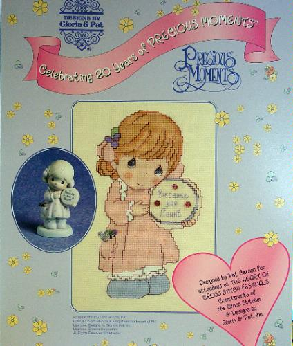 Precious Moments, Because You Count, Cross Stitch, (Designs By Gloria & Pat)