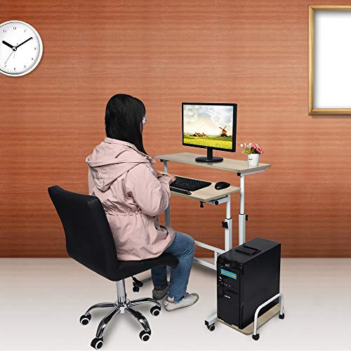- Luonita Modern Folding Computer Desk Height-Adjustable from 26-41.3 inch, Wooden Laptop Table Computer Standing Desk with Wheels Shipping from CA.,NJ.