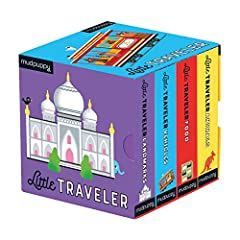 Introduce your little traveler to landmarks, food, animals, and vehicles from around the world with Mudpuppy's Little Traveler Board Book Set. The Board Book Set includes 4 mini board books, 8 pages per book, packaged together in a slipcase b...