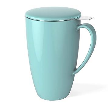 Sweese 2101 Thé Avec 400ml Tasse Acier Porcelaine Turquoise InoxydableCouvercle À Infuseur En q35RLj4A