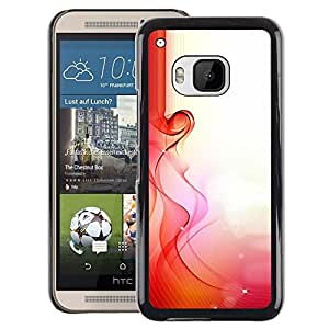 A-type Arte & diseño plástico duro Fundas Cover Cubre Hard Case Cover para HTC One M9 (Love Spring Morning Sun Pregnancy Woman)
