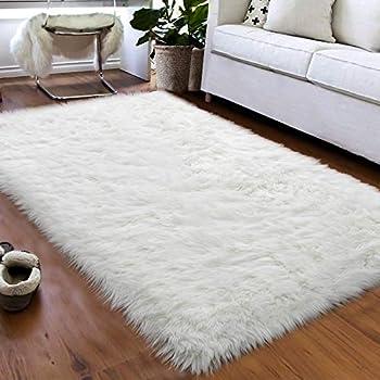 Amazon Com Carvapet Luxury Soft Faux Sheepskin Fur Area